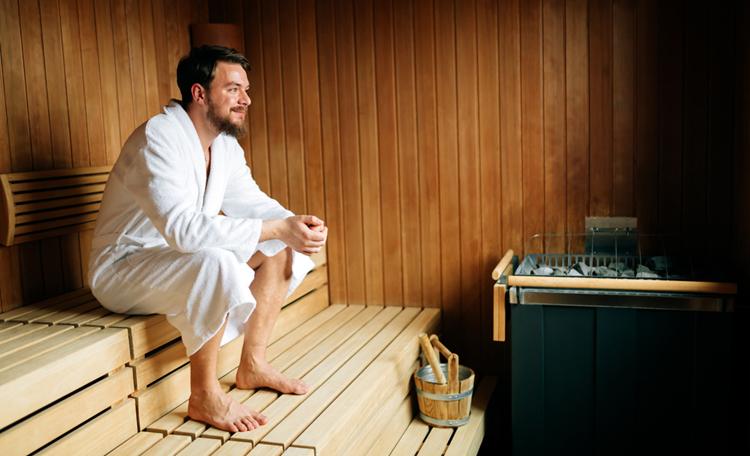 Saunabad beschermt mannen tegen trombo-embolie